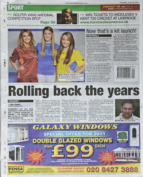 The Harrow Observer featuring Wealdstone 2011/2012 kits