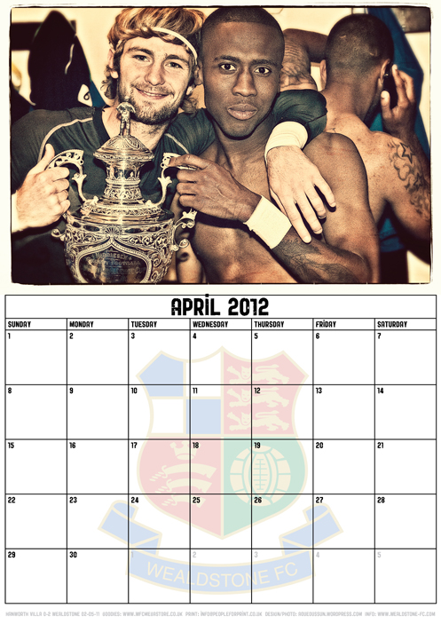 Wealdstone FC Supporters Club Calendar 2012 - April