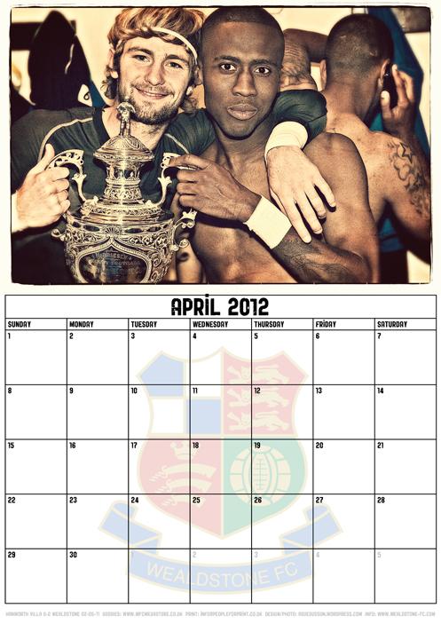 Wealdstone FC Supporters Club Calendar 2012 - April