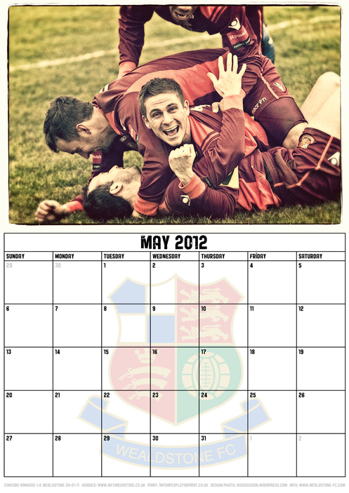 Wealdstone FC Supporters Club Calendar 2012 - May