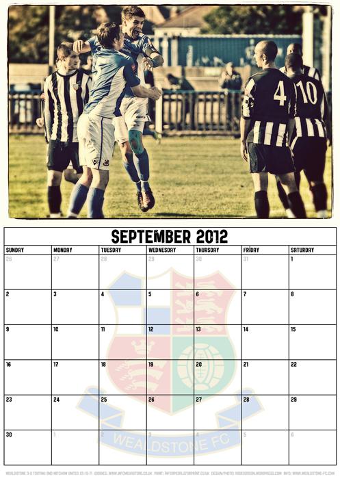 Wealdstone FC Supporters Club Calendar 2012 - September
